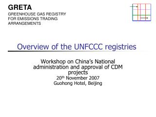 Overview of the UNFCCC registries