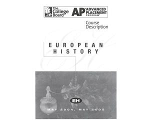 AP European History Introduction
