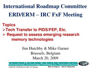 ERD/ERM – IRC FxF Meeting