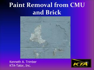 Paint Removal from CMU and Brick