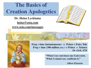 The Basics of Creation  Apologetics