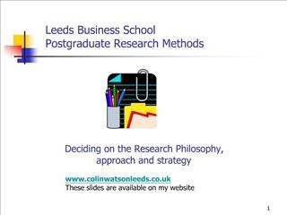 Leeds Business School Postgraduate Research Methods