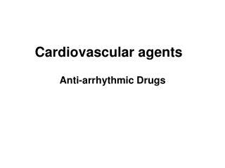Cardiovascular agents