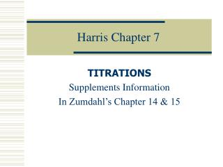 Harris Chapter 7