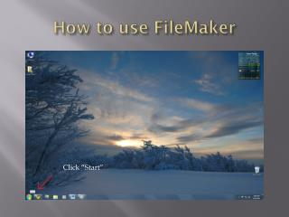 How to use FileMaker