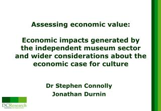 Dr Stephen Connolly  Jonathan Durnin