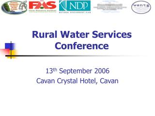 Rural Water Services Conference