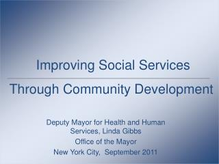 Improving Social Services Through Community Development