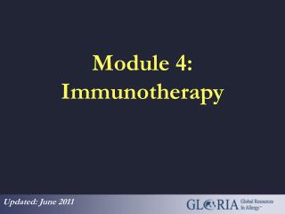 Module 4: Immunotherapy
