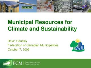 Municipal Resources for Climate and Sustainability