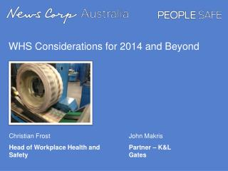 WHS Considerations for 2014 and Beyond