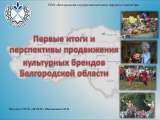 Методист ГБУК «БГЦНТ» Шапошников М.В.