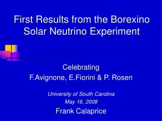 First Results from the Borexino Solar Neutrino Experiment