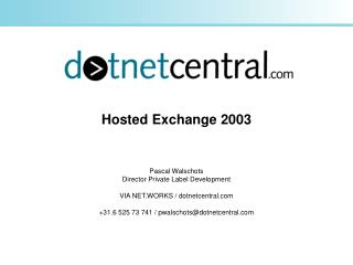 Hosted Exchange 2003