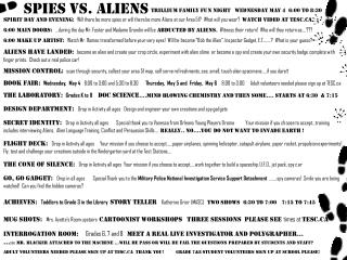 Spies vs. Aliens