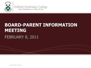 BOARD-PARENT INFORMATION MEETING