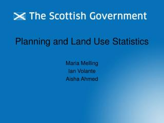 Planning and Land Use Statistics