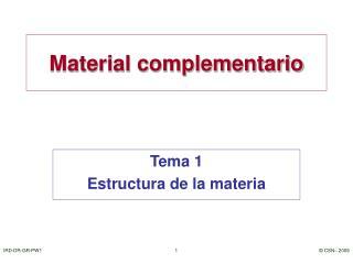 Material complementario