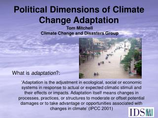 Political Dimensions of Climate Change Adaptation