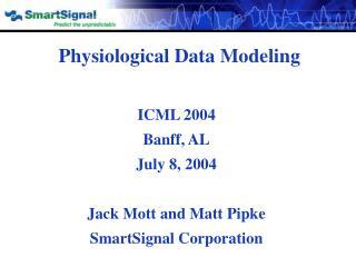 Physiological Data Modeling