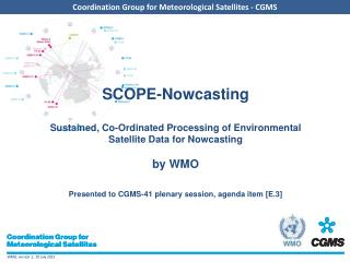 SCOPE- Nowcasting