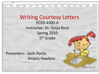 Writing Courtesy Letters