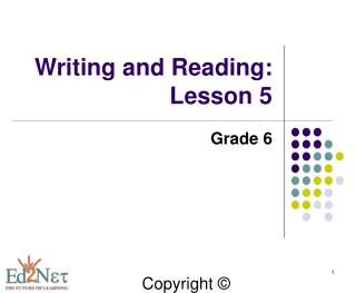 Writing and Reading: Lesson 5