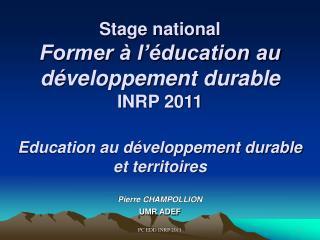 Pierre CHAMPOLLION UMR ADEF