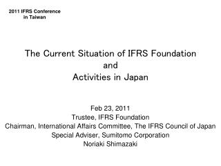 2011 IFRS Conference in Taiwan