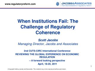 2nd CUTS-CIRC International Conference  REVIEWING THE GLOBAL EXPERIENCE ON ECONOMIC REGULATION