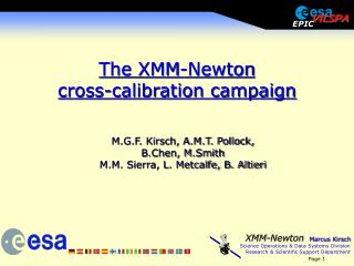 The XMM-Newton  cross-calibration campaign