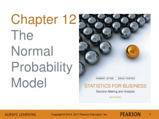 Chapter 12 The Normal Probability Model