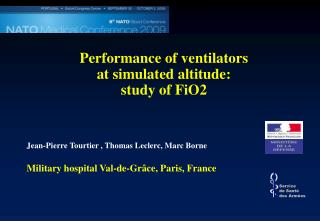 Performance of ventilators  at simulated altitude:  study of FiO2