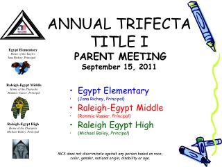 ANNUAL TRIFECTA TITLE I   PARENT MEETING  September 15, 2011