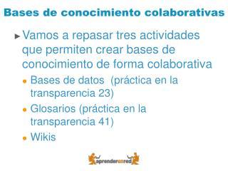 Bases de conocimiento colaborativas