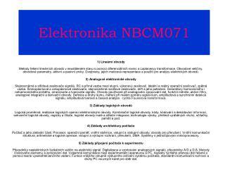 Elektronika NBCM071