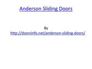 Anderson Sliding Doors