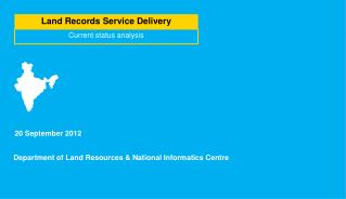 Land Records Service Delivery
