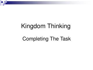 Kingdom Thinking