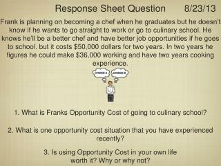 Response Sheet Question
