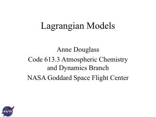 Lagrangian Models