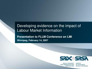 Developing evidence on the impact of  Labour Market Information