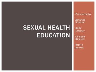 Sexual health education