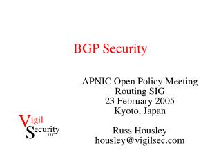 BGP Security