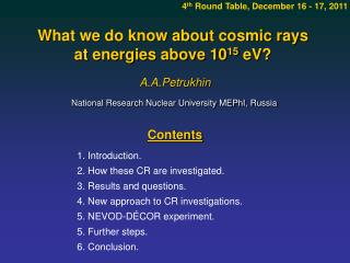 What we do know about cosmic rays  at energies above 10 15  eV?