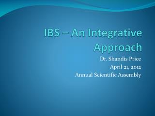 IBS – An Integrative Approach