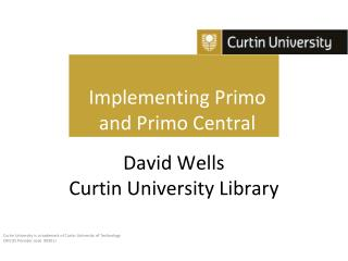 Implementing Primo  and Primo Central