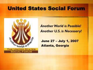 United States Social Forum