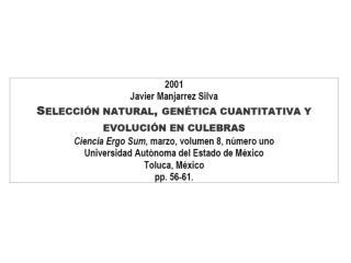 I. Selección natural