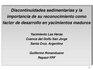 Discontinuidades sedimentarias y la